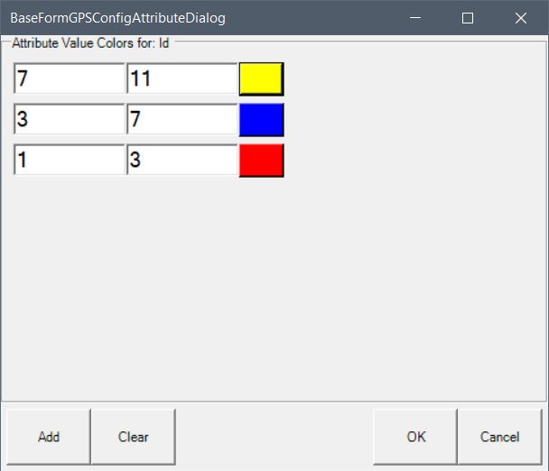 Configuring attribute colors