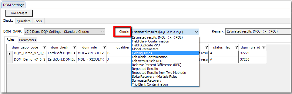 DQM_Check_drop-down_Settings